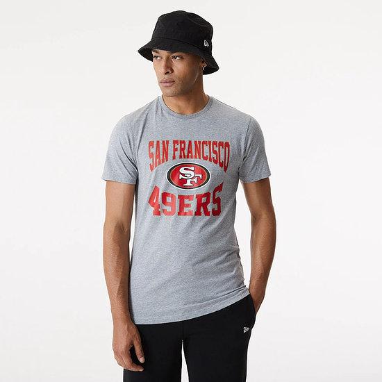 New Era San Francisco 49ers T-Shirt Team Logo grau