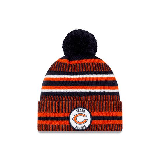 New Era Chicago Bears Beanie On Field Sport Knit HM orange