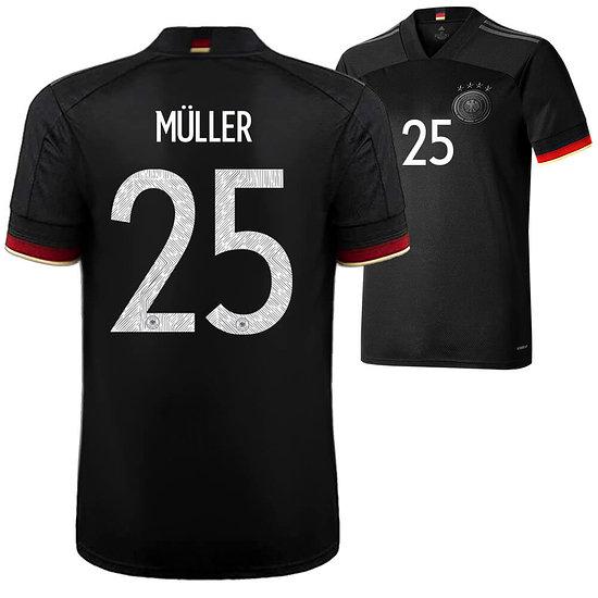 Adidas Deutschland EM 2021 DFB Trikot MÜLLER Auswärts Kinder