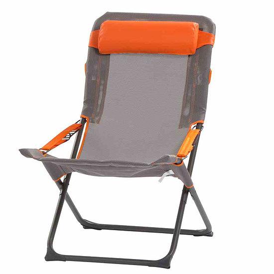 Portal Campingstuhl Eddy 60x48x100 cm grau/orange