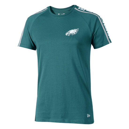New Era Philadelphia Eagles T-Shirt Raglan Shoulder Print grün