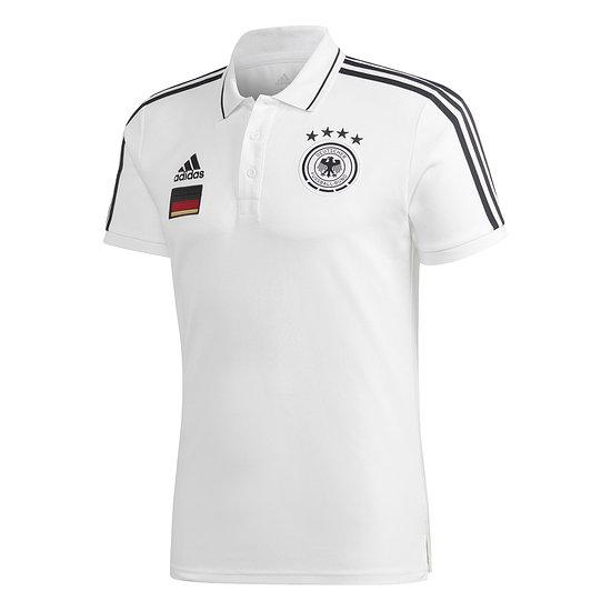 Adidas Deutschland DFB Poloshirt 3S EM 2021 Weiß