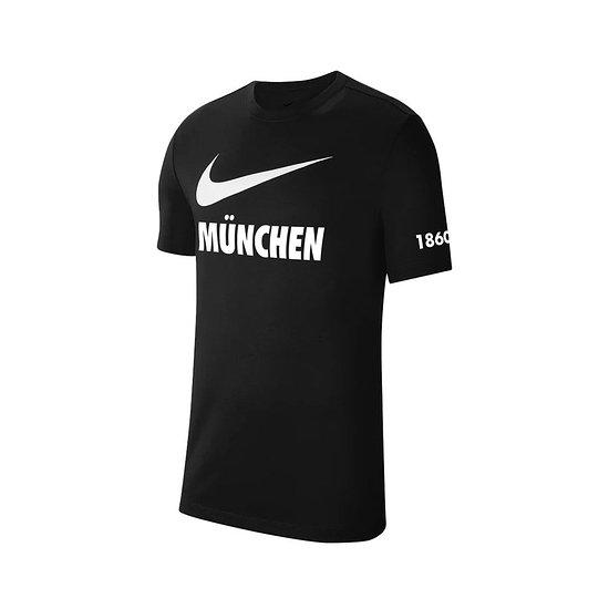 Nike TSV 1860 München T-Shirt Swoosh 2021/2022 Schwarz