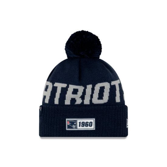 New Era New England Patriots Beanie On Field Sport Knit RD blau