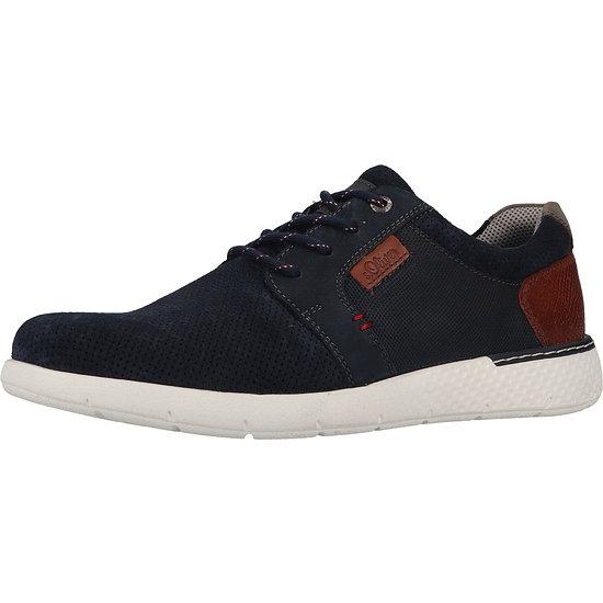S. Oliver Sneaker Leder navy/braun