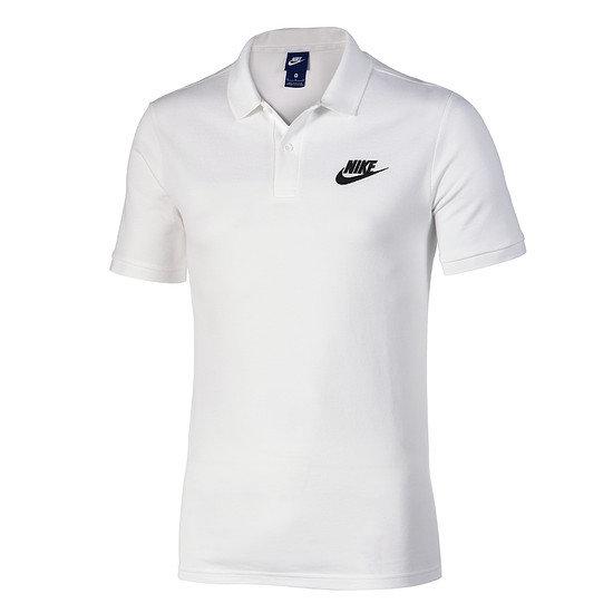 Nike Poloshirt Sportswear Basic weiß/schwarz