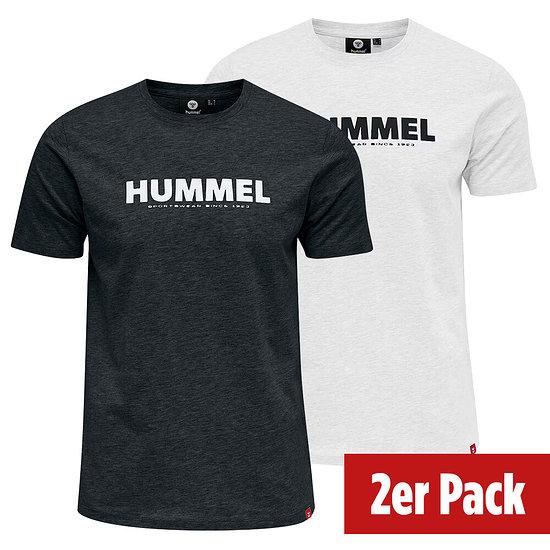 hummel 2er Set T-Shirt Legacy schwarz/weiß