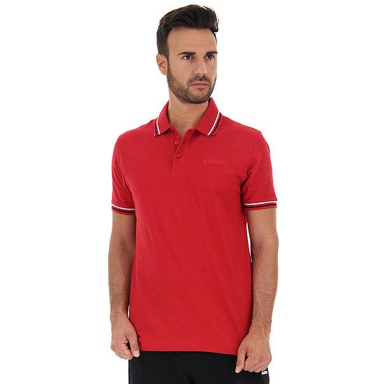 Lotto Poloshirt Classica Tango Red/All Black