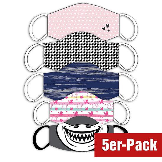 5er Set Mund-Nase Maske Familie gemischt