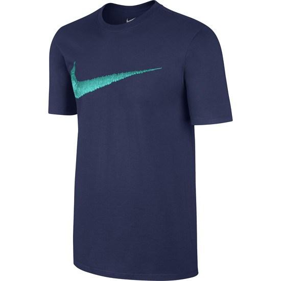 Nike Swoosh T-Shirt blau/grün