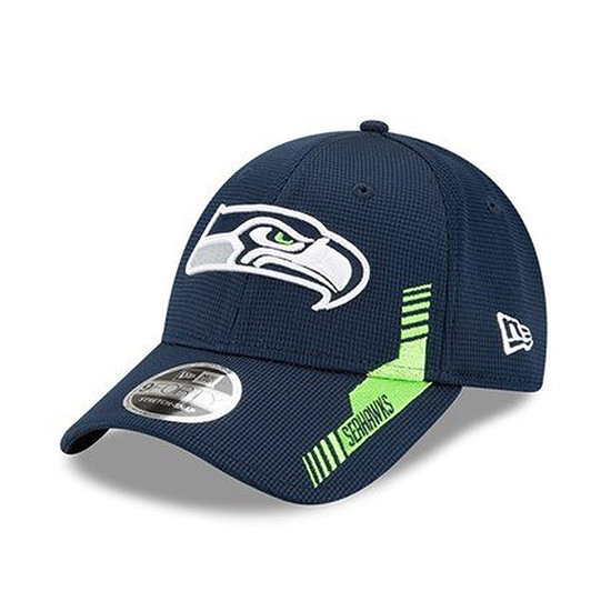 New Era Seattle Seahawks Cap Sideline Heim 9FORTY blau