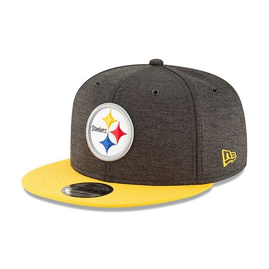 New Era Pittsburgh Steelers Cap 9FIFTY Sideline 2018 schwarz