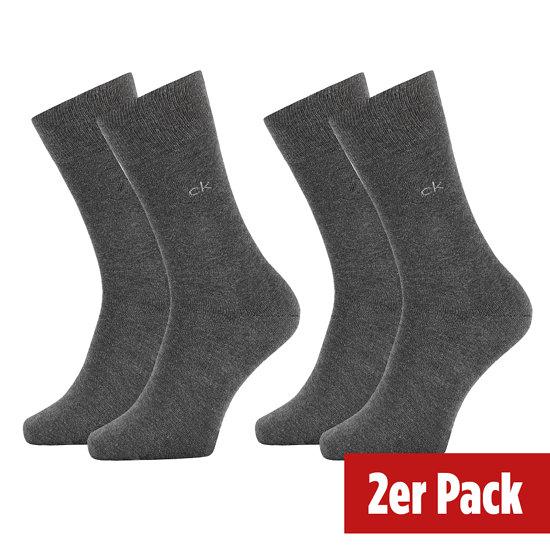 Calvin Klein Socken 2er Pack CREW CARTER Grau
