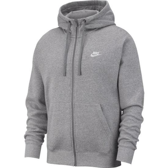 Nike Kapuzensweatjacke Sportswear Club Fleece grau