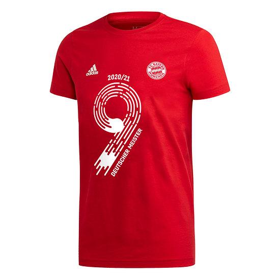 Adidas FC Bayern München T-Shirt MEISTER 2021 Rot