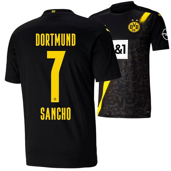 Puma Borussia Dortmund Auswärts Trikot SANCHO 2020/2021 Kinder