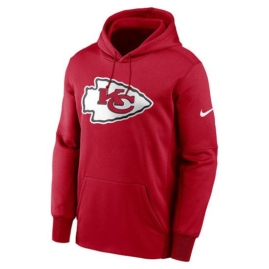 Nike Kansas City Chiefs Hoodie Prime Logo Therma university red