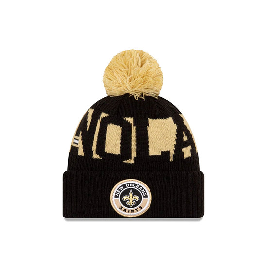 New Era New Orleans Saints Beanie On Field Sport Knit schwarz