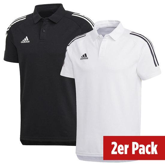 Adidas 2er Set Poloshirt Condivo 20 Schwarz/Weiß