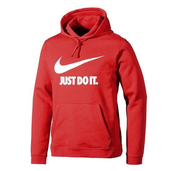 Nike Hoodie Sportswear rot/weiß
