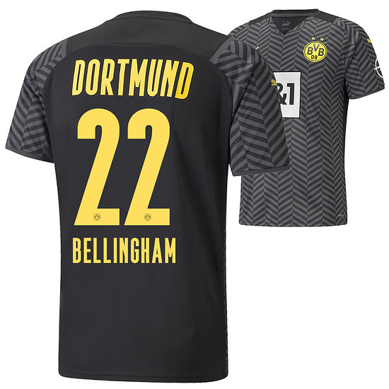 Puma Borussia Dortmund Away Trikot BELLINGHAM 2021/2022 Kinder