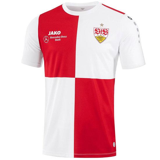 Jako VfB Stuttgart T-Shirt Warm-Up weiß/sportrot