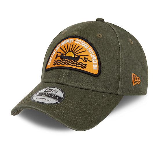 New Era Cap Camp Patch 9FORTY khaki