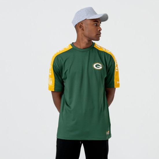 New Era Green Bay Packers T-Shirt Oversized Shoulder Print grün