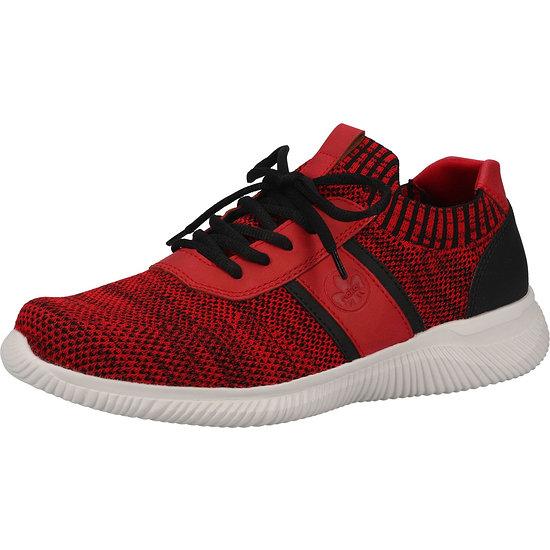 Rieker Sneaker Lederimitat red/black