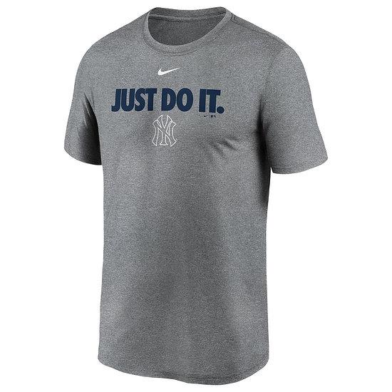 Nike New York Yankees T-Shirt Just Do It Legend grau