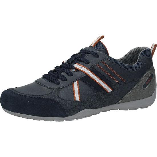 GEOX Sneaker Lederimitat/Mesh blau