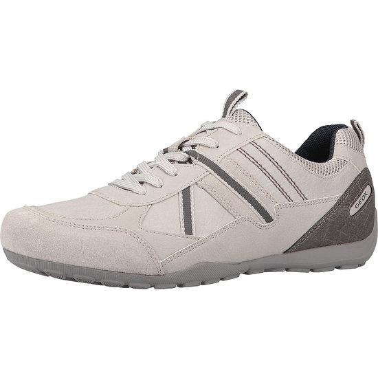 GEOX Sneaker Lederimitat/Mesh grau