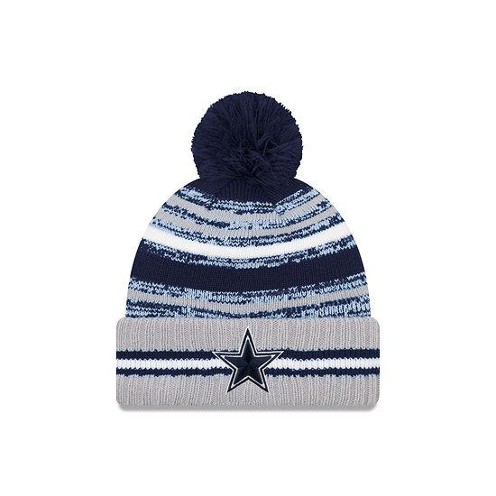 New Era Dallas Cowboys Beanie Sport Knit Cold Weather blau