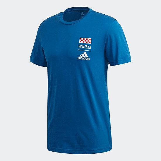 Adidas Kroatien T-Shirt EM 2021 Blau