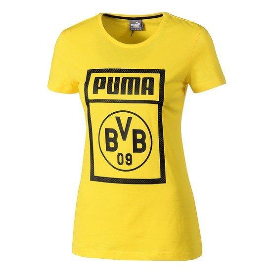 Puma Borussia Dortmund T-Shirt Fanwear Damen gelb