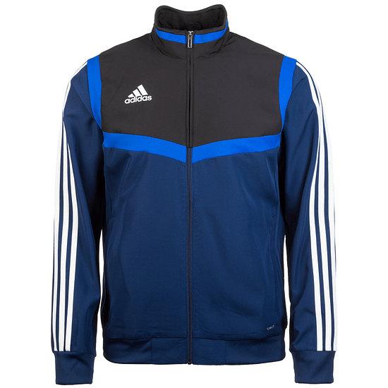 Adidas Fitness-Jacke Tiro 19 Dunkelblau/Schwarz