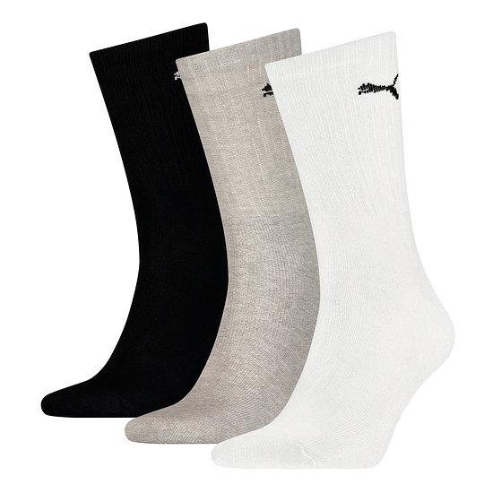 Puma Socken 3er Pack Lang SW/Grau/Weiß