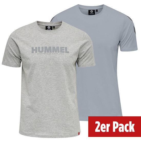 hummel 2er Set T-Shirt Legacy Mix grau