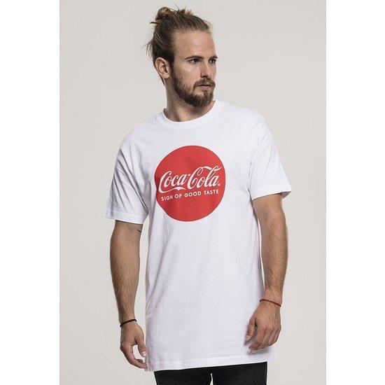 MERCHCODE T-Shirt Coca Cola Round Logo weiß