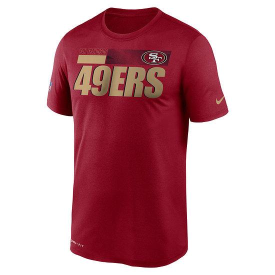 Nike San Francisco 49ers T-Shirt Team Name Sideline rot
