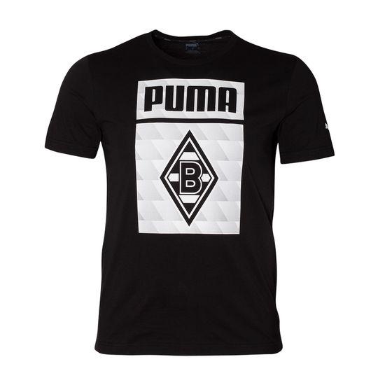 Puma Borussia Mönchengladbach T-Shirt Raute 2020/2021 Kinder Schwarz