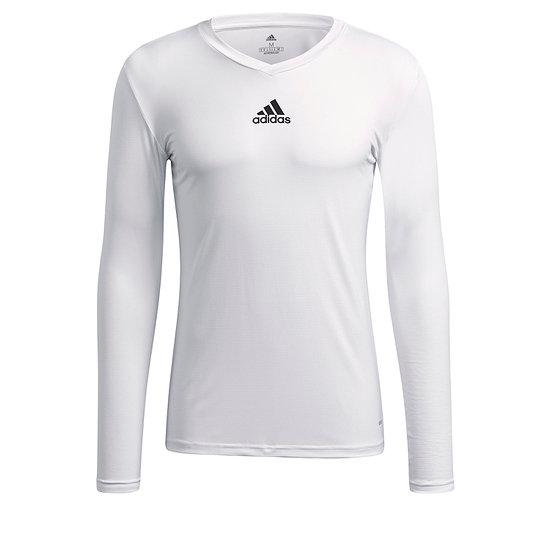Adidas Trainingsshirt Langarm Team Base Weiß