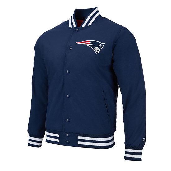 New Era New England Patriots Bomberjacke Team Wordmark blau