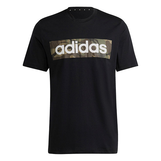 Adidas T-Shirt CAMO LIN Schwarz/Oliv