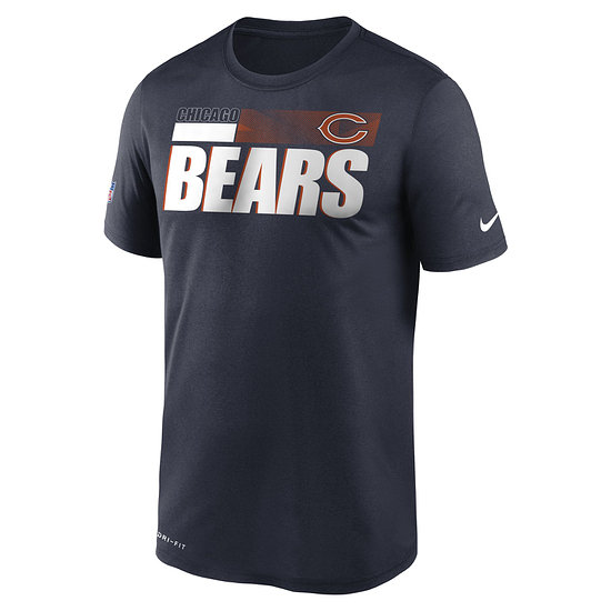 Nike Chicago Bears T-Shirt Team Name Sideline marine
