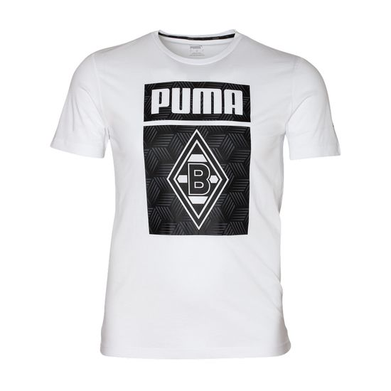Puma Borussia Mönchengladbach T-Shirt Raute 2020/2021 Weiß