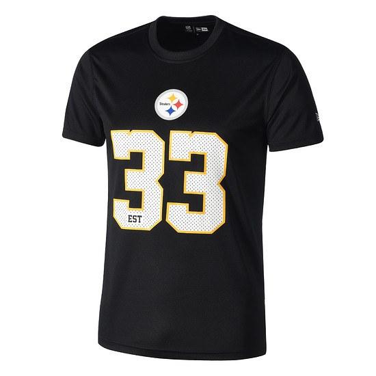 New Era Pittsburgh Steelers T-Shirt Supporters schwarz