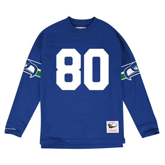 Mitchell & Ness Seattle Seahawks Longsleeve N&N Steve Largent blau
