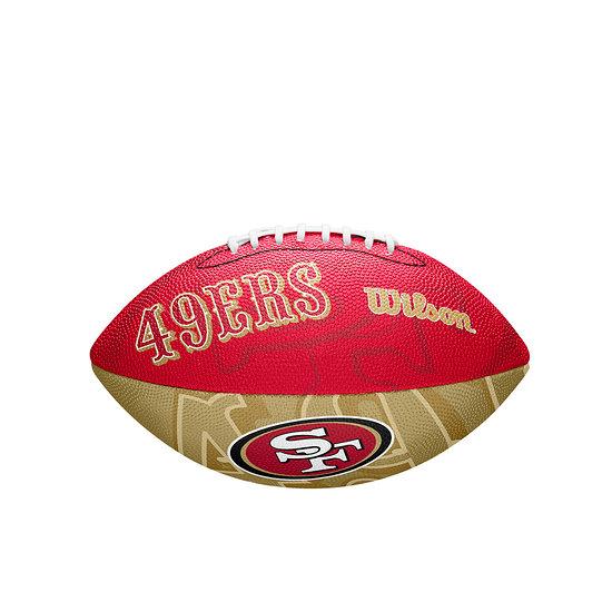 Wilson San Francisco 49ers Football Team Logo Junior rot