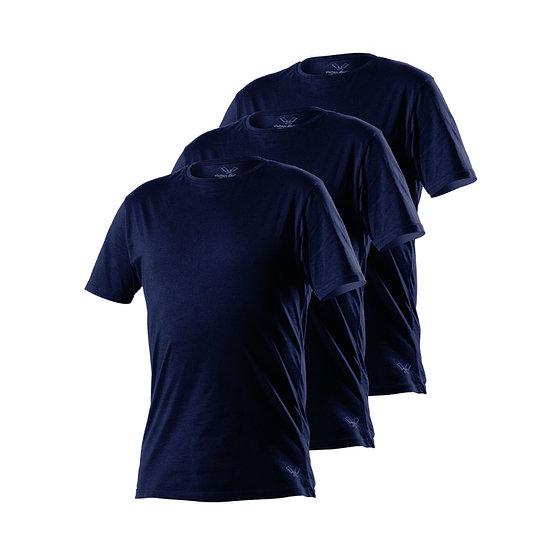 Cotton Butcher T-Shirt Georgia Rundhals 3er Pack navy